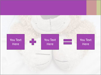 An adorable teddy bear laying in bed PowerPoint Template - Slide 95