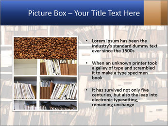 Office shelves full of files and boxes PowerPoint Templates - Slide 13