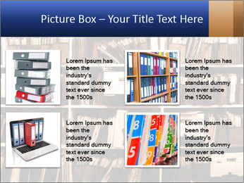 Office shelves full of files and boxes PowerPoint Templates - Slide 14