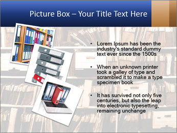 Office shelves full of files and boxes PowerPoint Templates - Slide 17