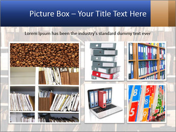 Office shelves full of files and boxes PowerPoint Templates - Slide 19
