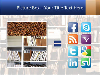 Office shelves full of files and boxes PowerPoint Templates - Slide 21