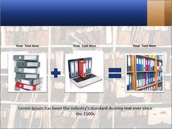 Office shelves full of files and boxes PowerPoint Templates - Slide 22