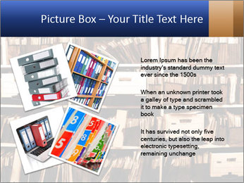 Office shelves full of files and boxes PowerPoint Templates - Slide 23