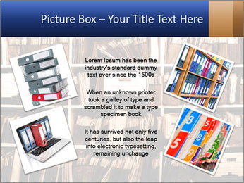 Office shelves full of files and boxes PowerPoint Templates - Slide 24