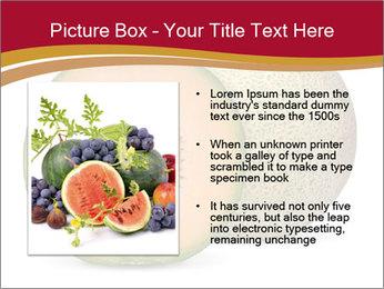 Orange cantaloupe melon isolated PowerPoint Template - Slide 13