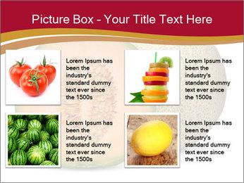 Orange cantaloupe melon isolated PowerPoint Template - Slide 14
