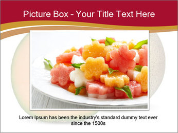 Orange cantaloupe melon isolated PowerPoint Template - Slide 15