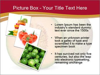 Orange cantaloupe melon isolated PowerPoint Template - Slide 17