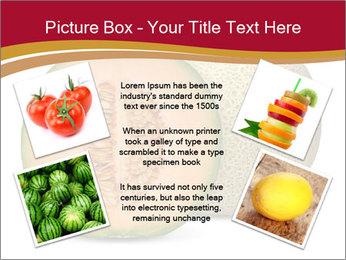 Orange cantaloupe melon isolated PowerPoint Templates - Slide 24
