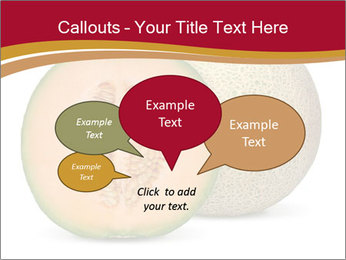 Orange cantaloupe melon isolated PowerPoint Template - Slide 73