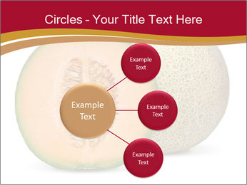 Orange cantaloupe melon isolated PowerPoint Templates - Slide 79