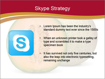 Orange cantaloupe melon isolated PowerPoint Template - Slide 8