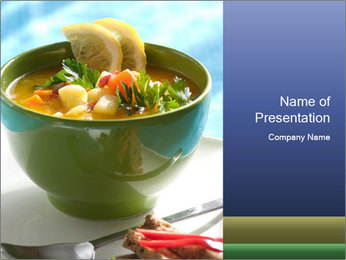 Fresh vegetable soup PowerPoint Template - Slide 1