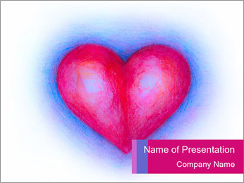 Heart isolated PowerPoint Template