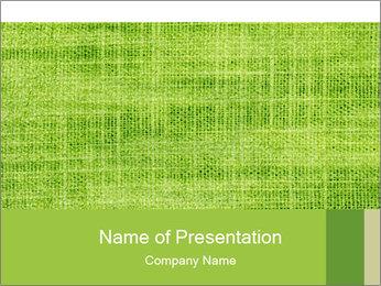 Green linen texture PowerPoint Templates - Slide 1