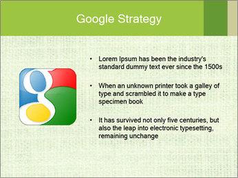 Green linen texture PowerPoint Templates - Slide 10