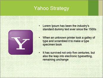 Green linen texture PowerPoint Templates - Slide 11