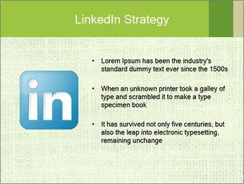Green linen texture PowerPoint Templates - Slide 12