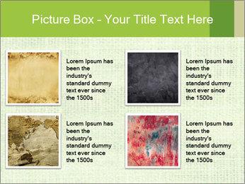 Green linen texture PowerPoint Templates - Slide 14