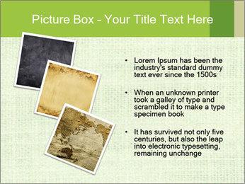 Green linen texture PowerPoint Templates - Slide 17