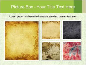 Green linen texture PowerPoint Templates - Slide 19