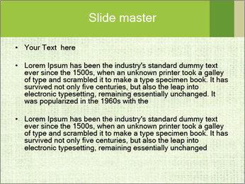 Green linen texture PowerPoint Templates - Slide 2