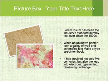 Green linen texture PowerPoint Templates - Slide 20