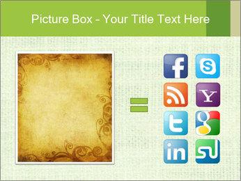 Green linen texture PowerPoint Templates - Slide 21