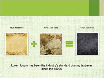 Green linen texture PowerPoint Templates - Slide 22