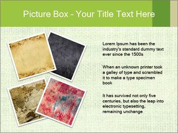 Green linen texture PowerPoint Templates - Slide 23