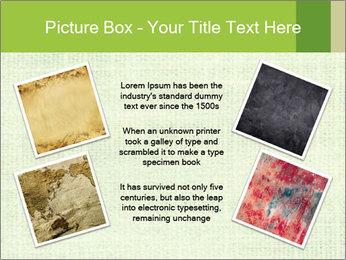 Green linen texture PowerPoint Templates - Slide 24