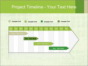 Green linen texture PowerPoint Templates - Slide 25