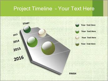 Green linen texture PowerPoint Templates - Slide 26