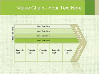 Green linen texture PowerPoint Templates - Slide 27