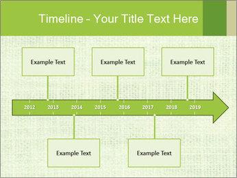 Green linen texture PowerPoint Templates - Slide 28