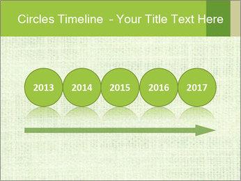 Green linen texture PowerPoint Templates - Slide 29