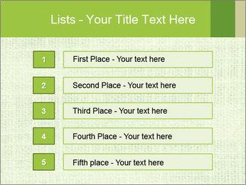 Green linen texture PowerPoint Templates - Slide 3