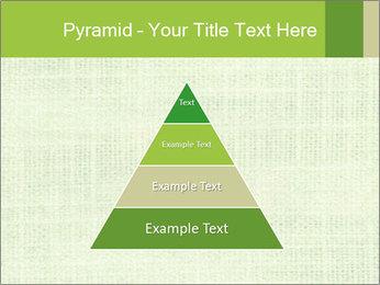 Green linen texture PowerPoint Templates - Slide 30