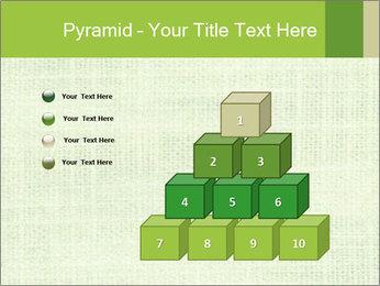 Green linen texture PowerPoint Templates - Slide 31
