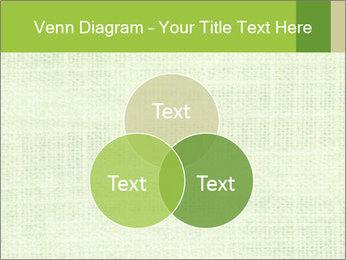 Green linen texture PowerPoint Templates - Slide 33
