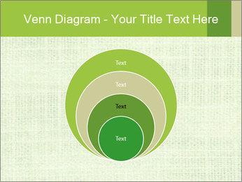 Green linen texture PowerPoint Templates - Slide 34