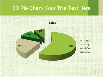 Green linen texture PowerPoint Templates - Slide 35