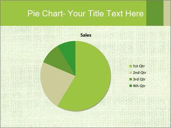 Green linen texture PowerPoint Templates - Slide 36