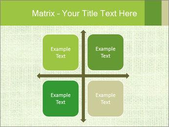 Green linen texture PowerPoint Templates - Slide 37