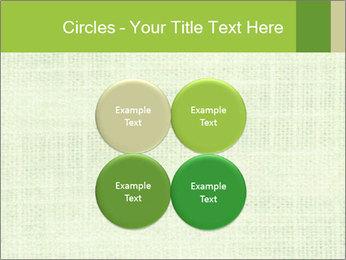 Green linen texture PowerPoint Templates - Slide 38