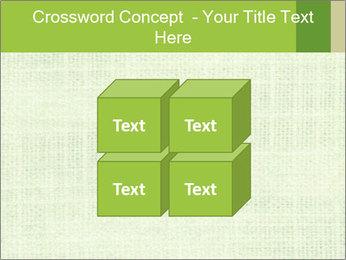 Green linen texture PowerPoint Templates - Slide 39