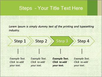 Green linen texture PowerPoint Templates - Slide 4