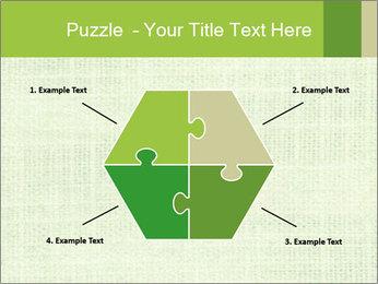 Green linen texture PowerPoint Templates - Slide 40