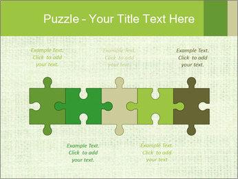 Green linen texture PowerPoint Templates - Slide 41